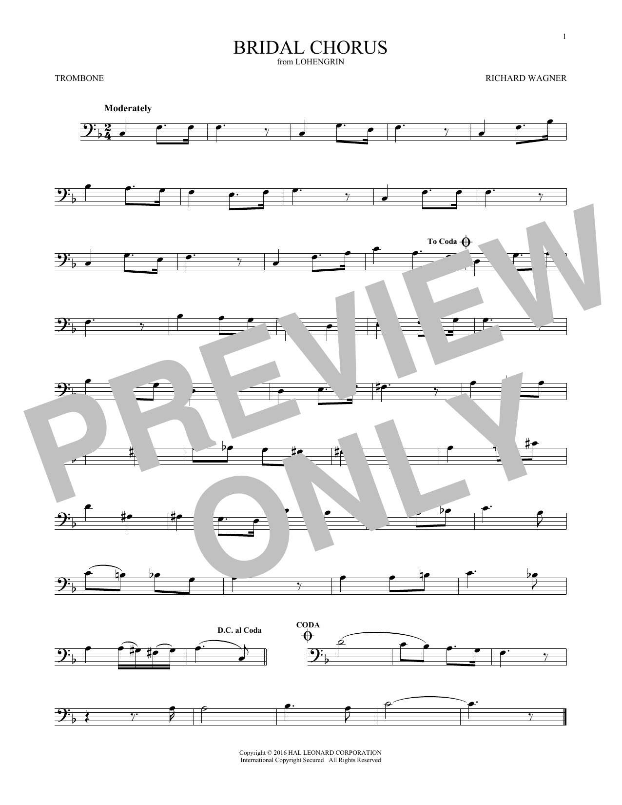 Bridal Chorus (Trombone Solo)