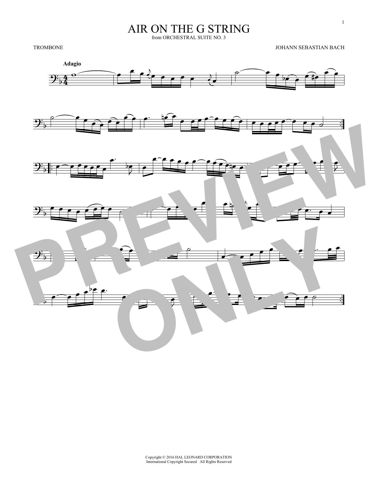 Air (Air On The G String) (Trombone Solo)