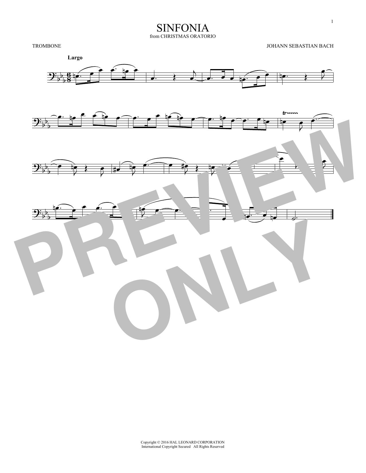 Sinfonia (Trombone Solo)
