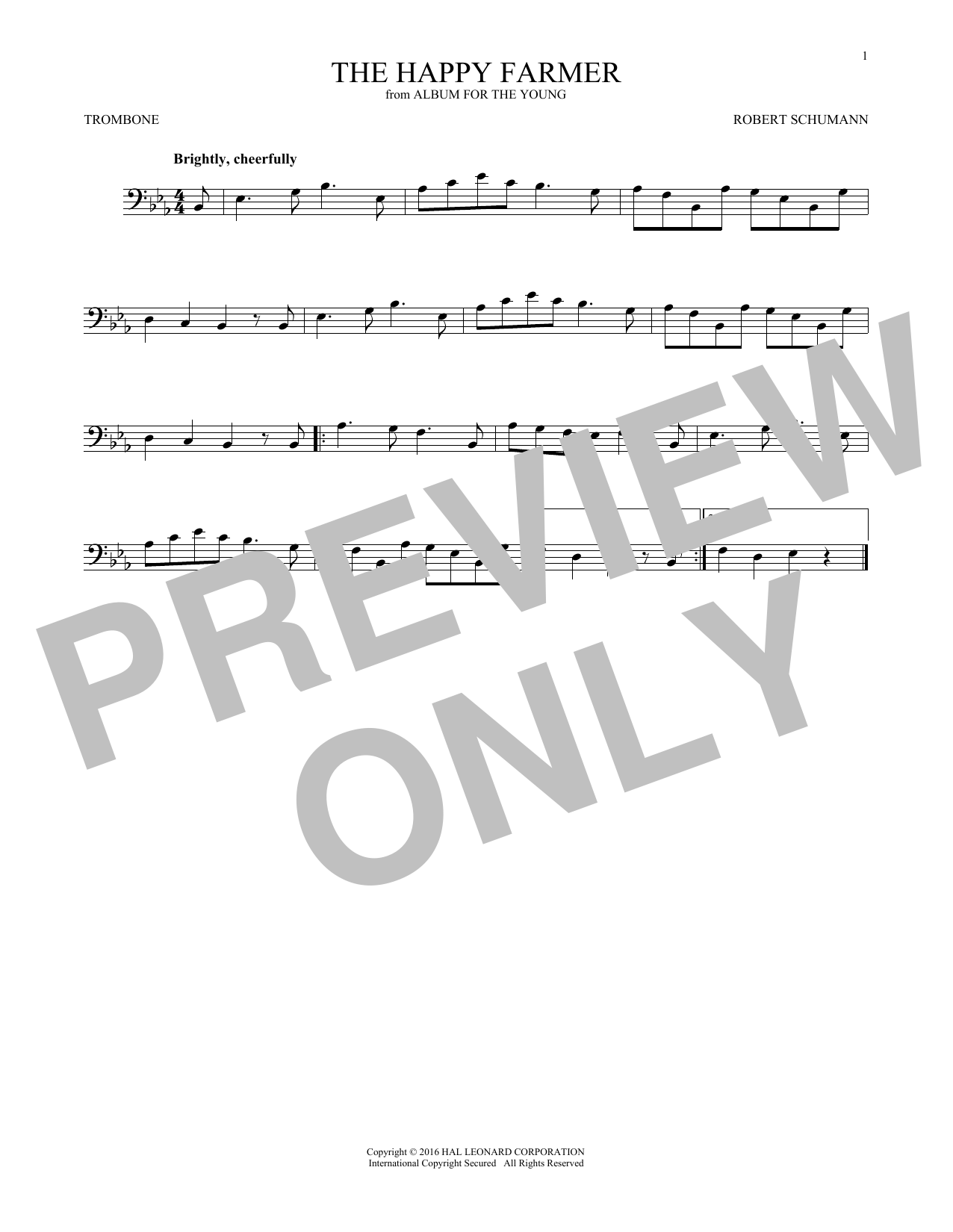 The Happy Farmer (Trombone Solo)
