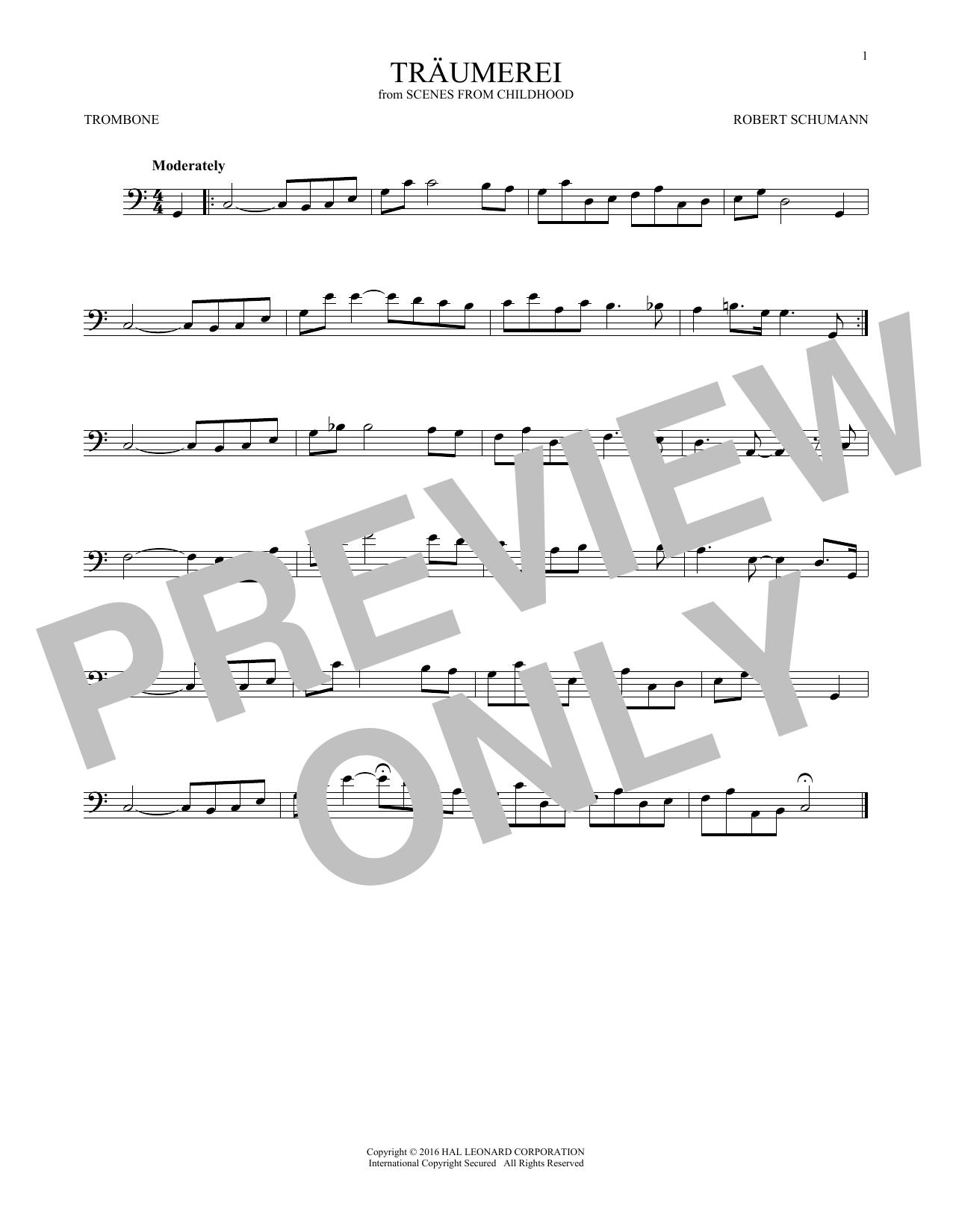 Traumerei (Trombone Solo)