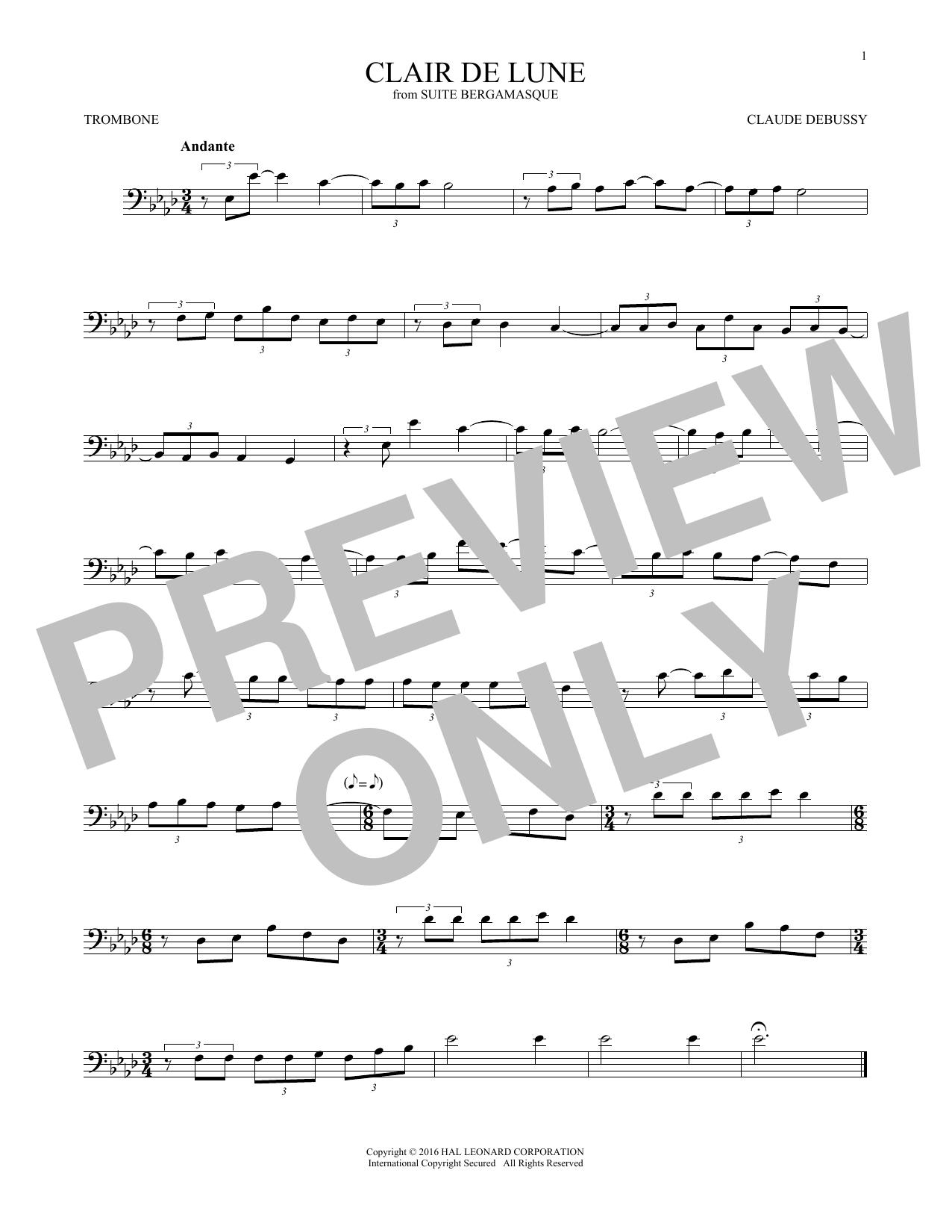 Clair De Lune (Trombone Solo)