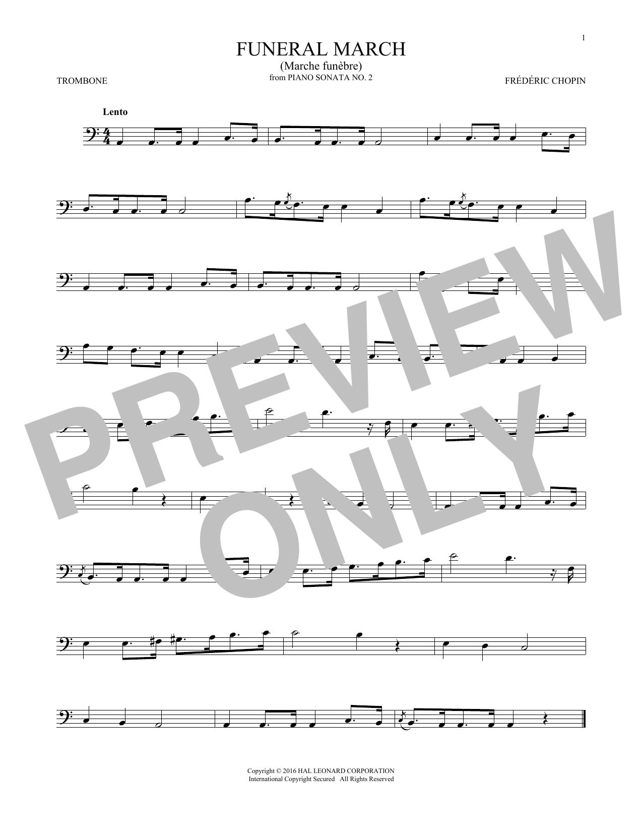 Funeral March (Trombone Solo)