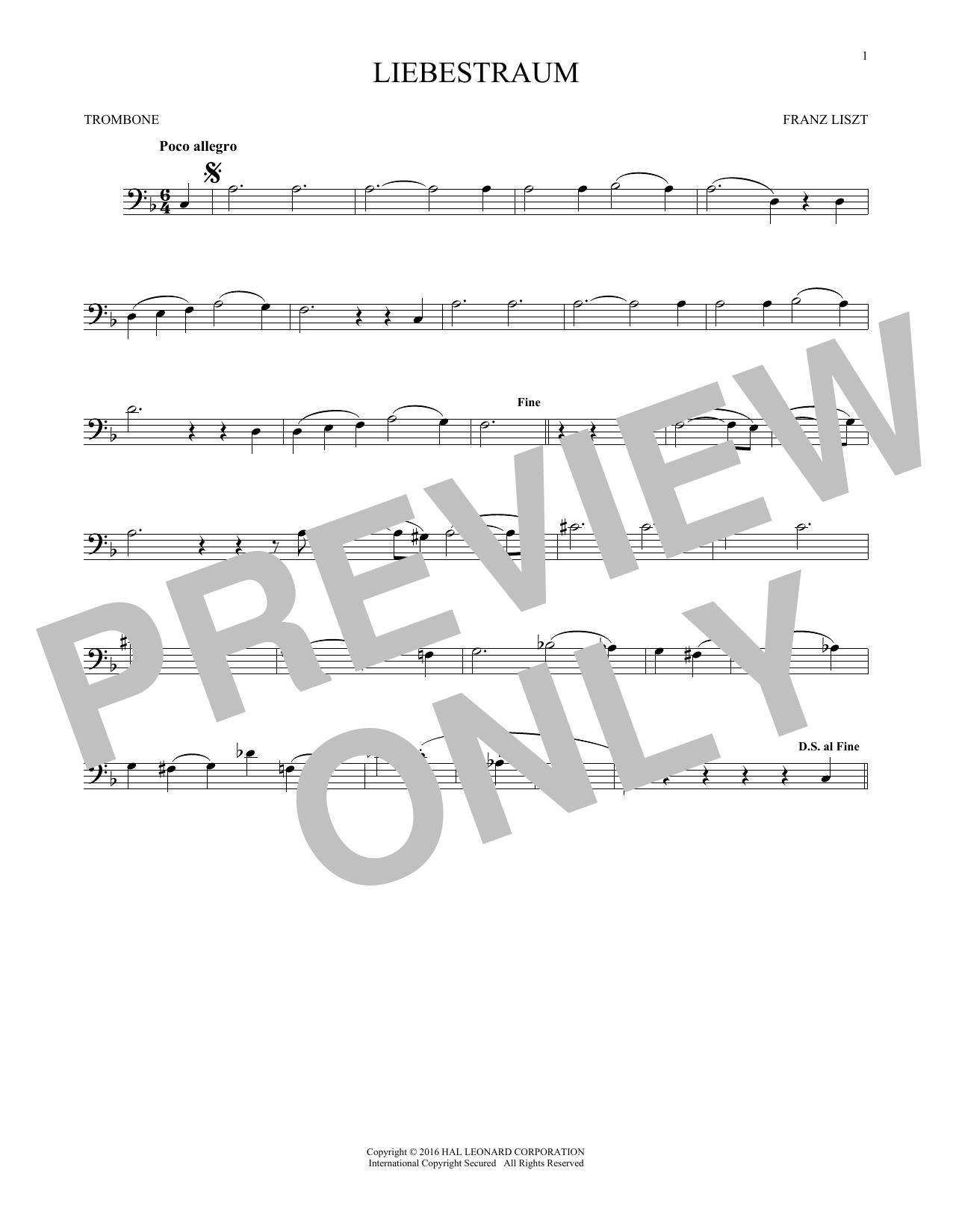 Liebestraum (Dream Of Love) (Trombone Solo)