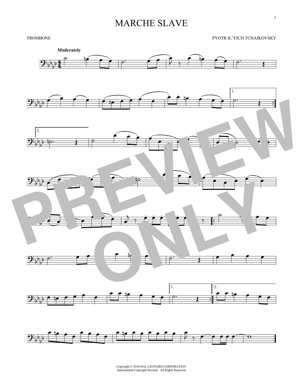 Marche Slav, Op. 31 (Trombone Solo)