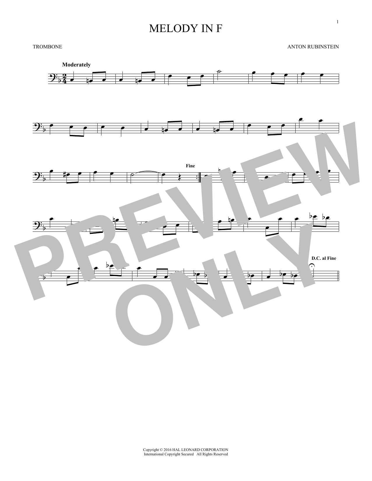 Melody In F (Trombone Solo)