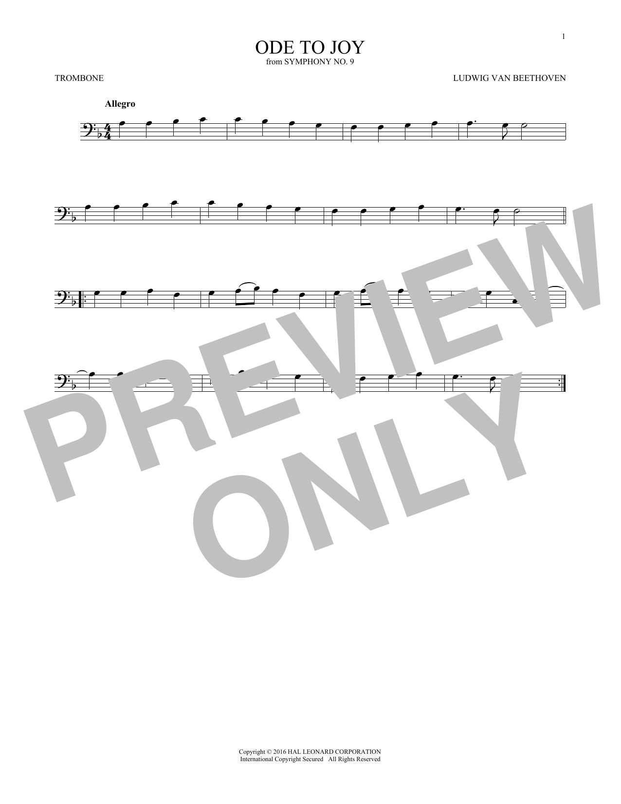 Ode To Joy (Trombone Solo)