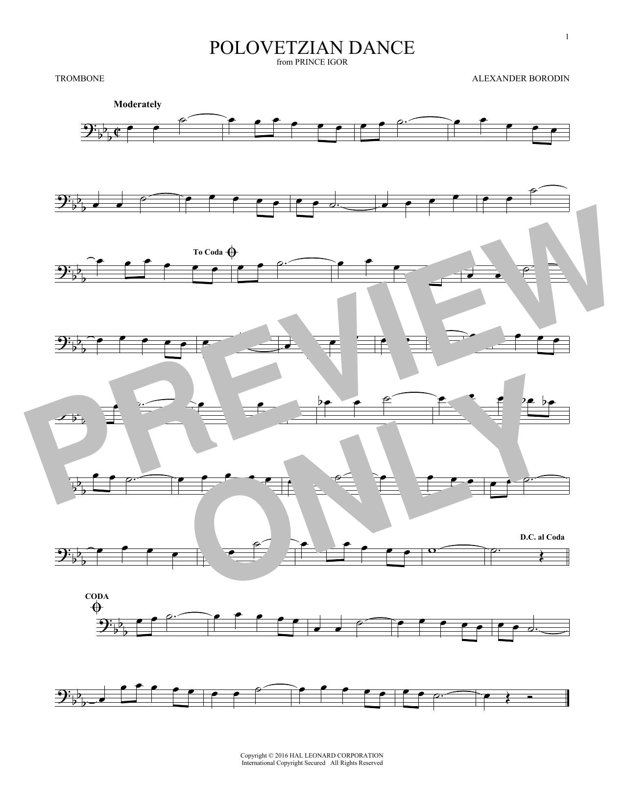 Polovetsian Dances (Trombone Solo)