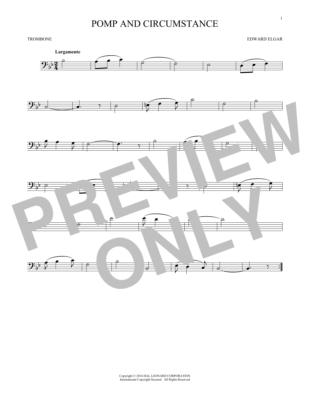 Pomp And Circumstance (Trombone Solo)