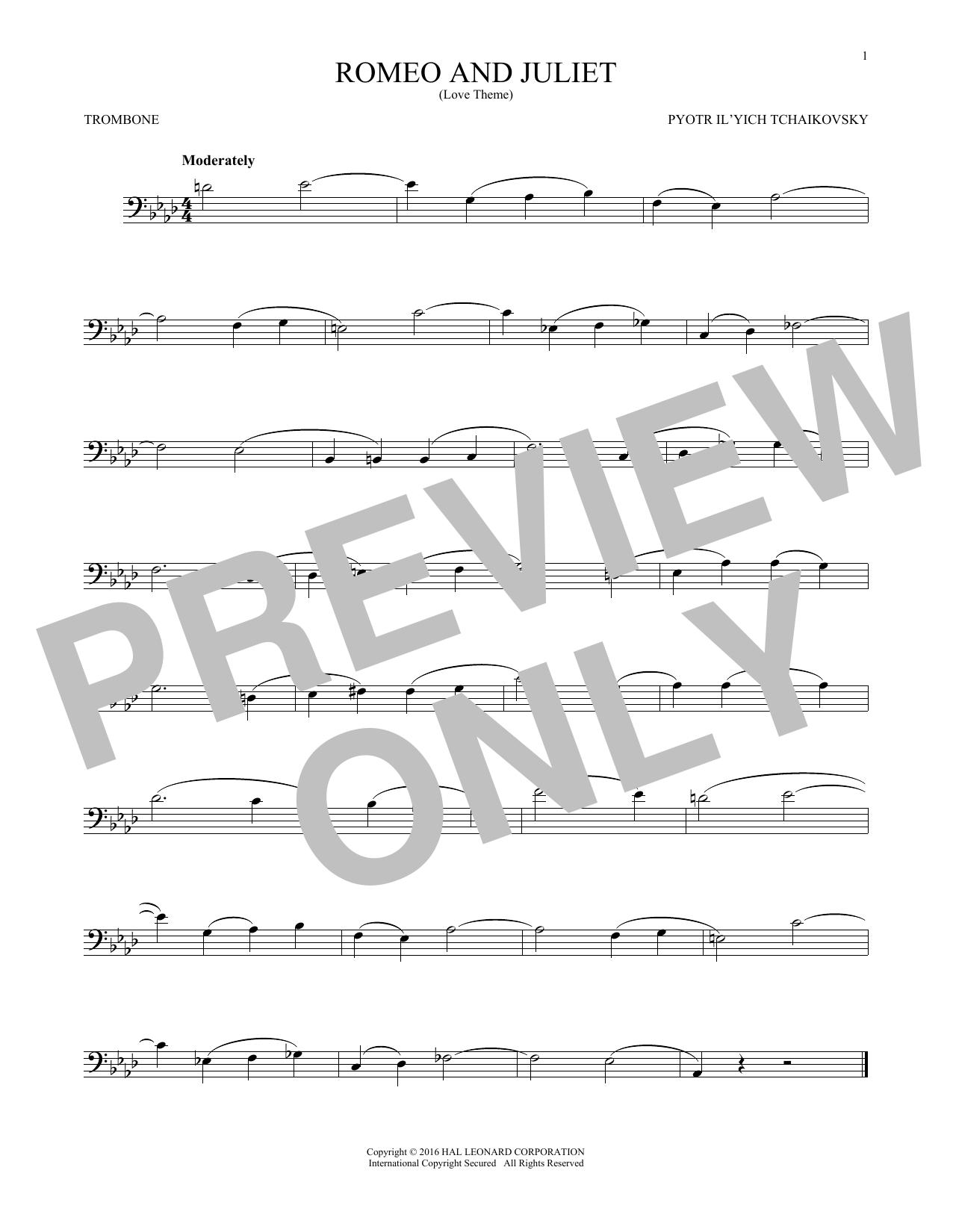 Romeo And Juliet (Love Theme) (Trombone Solo)