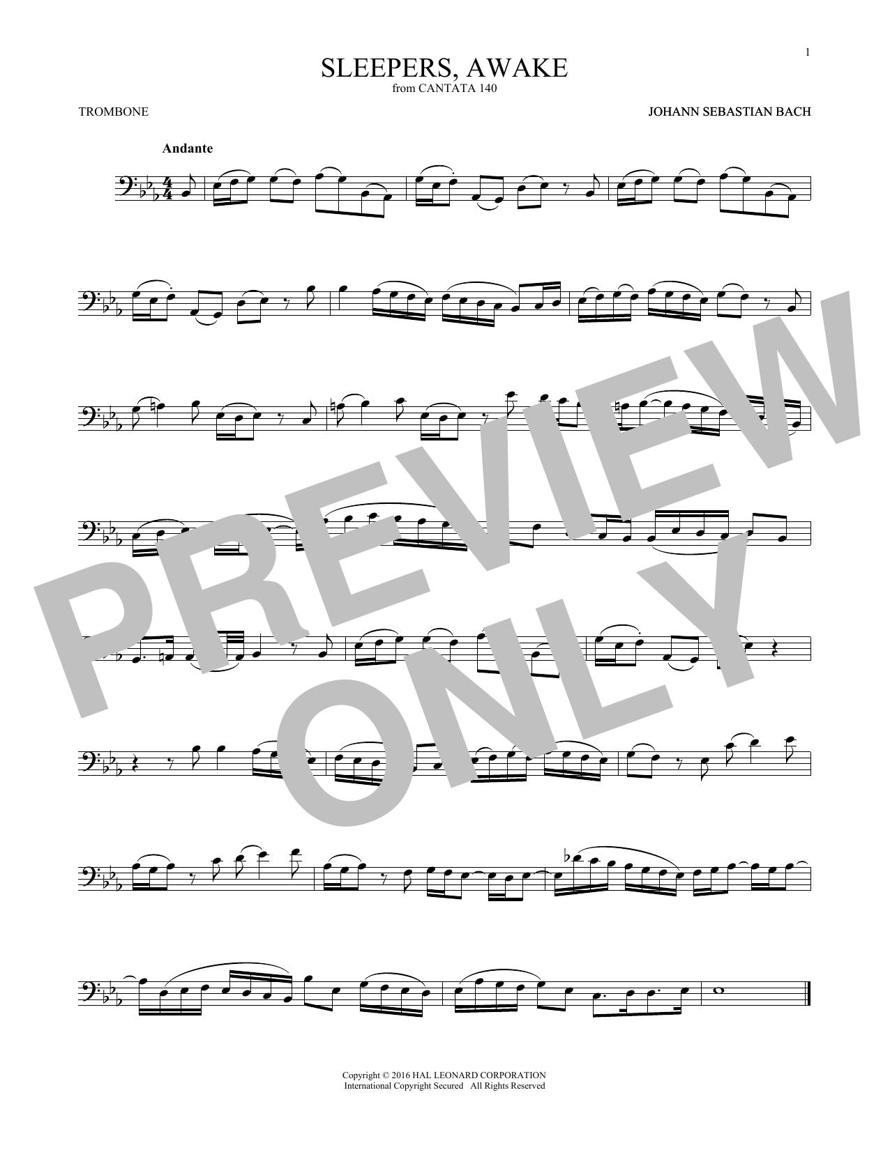 Sleepers, Awake (Wachet Auf) (Trombone Solo)