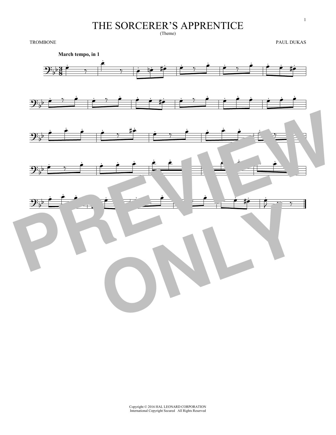 The Sorcerer's Apprentice (Trombone Solo)