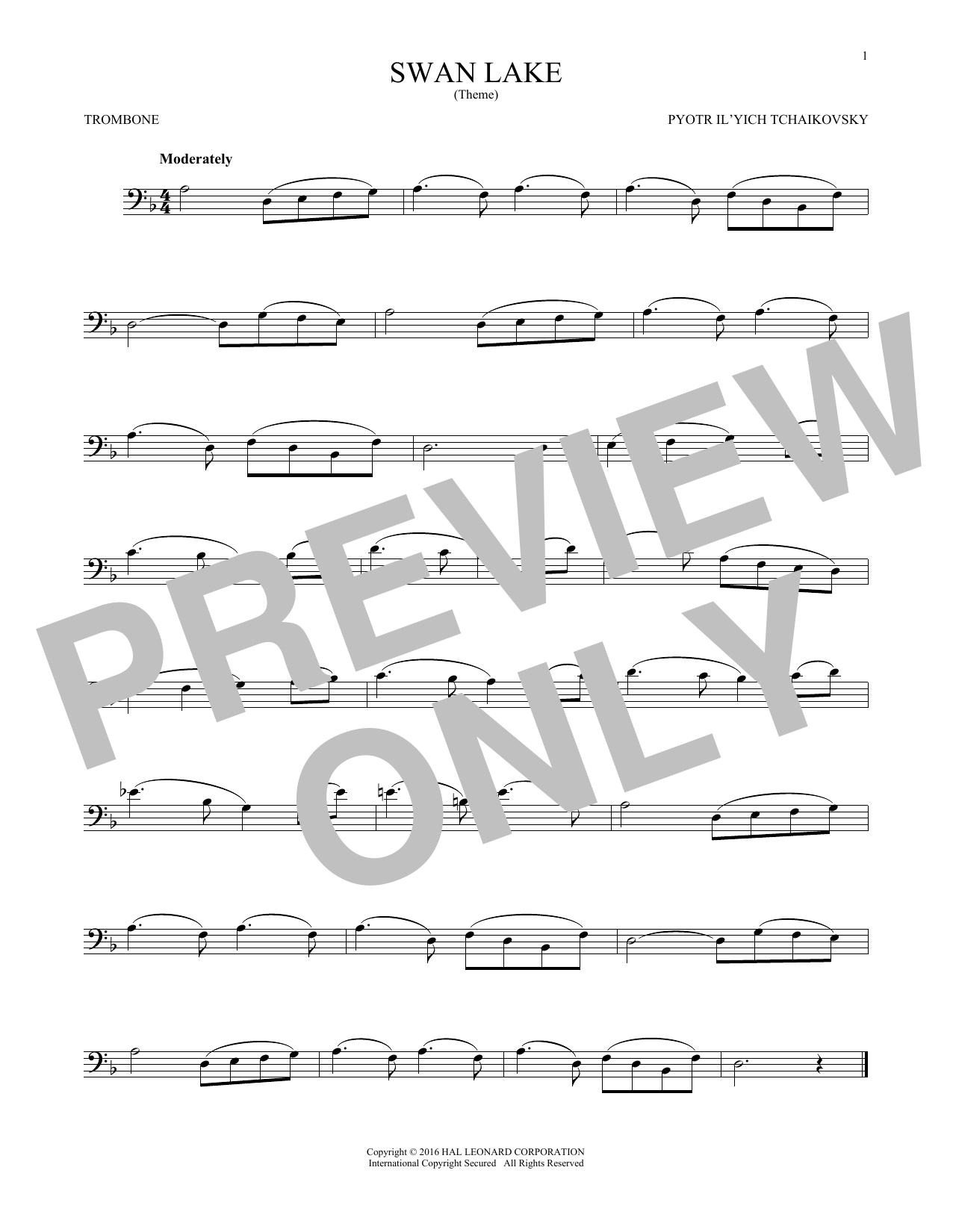 Theme From Swan Lake (Trombone Solo)