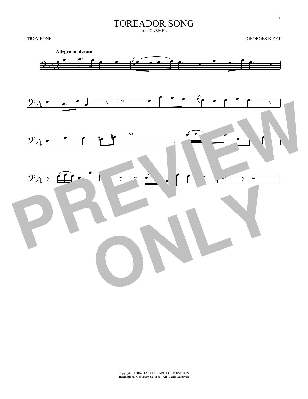 Toreador Song (Trombone Solo)