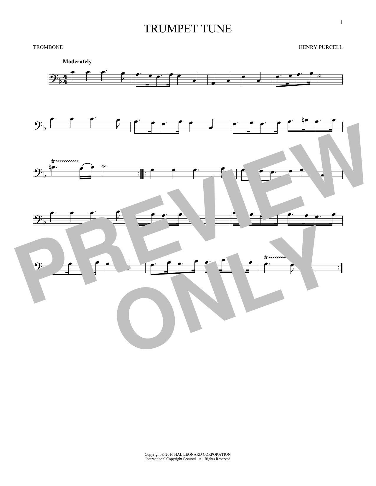 Trumpet Tune (Trombone Solo)