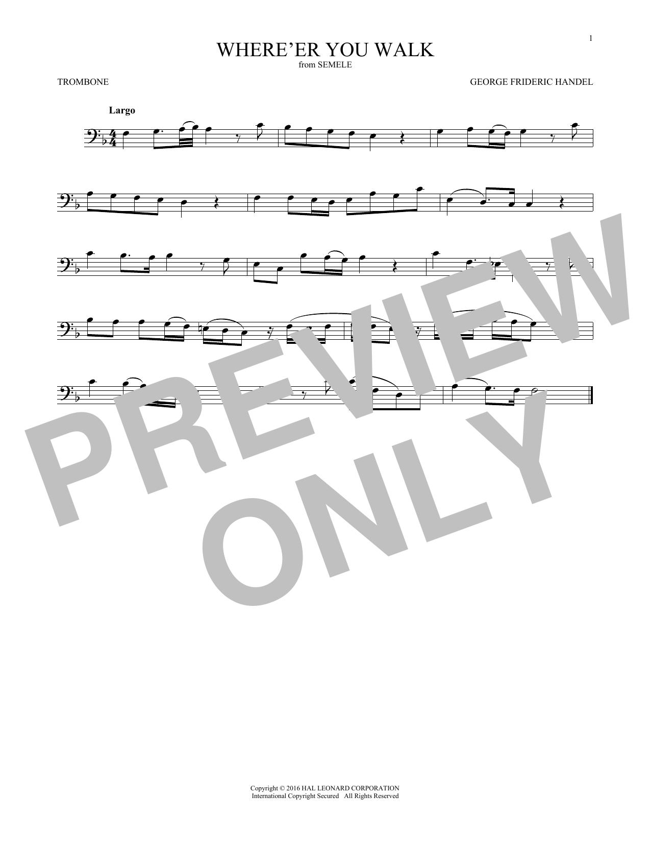 Where E'er You Walk (Trombone Solo)