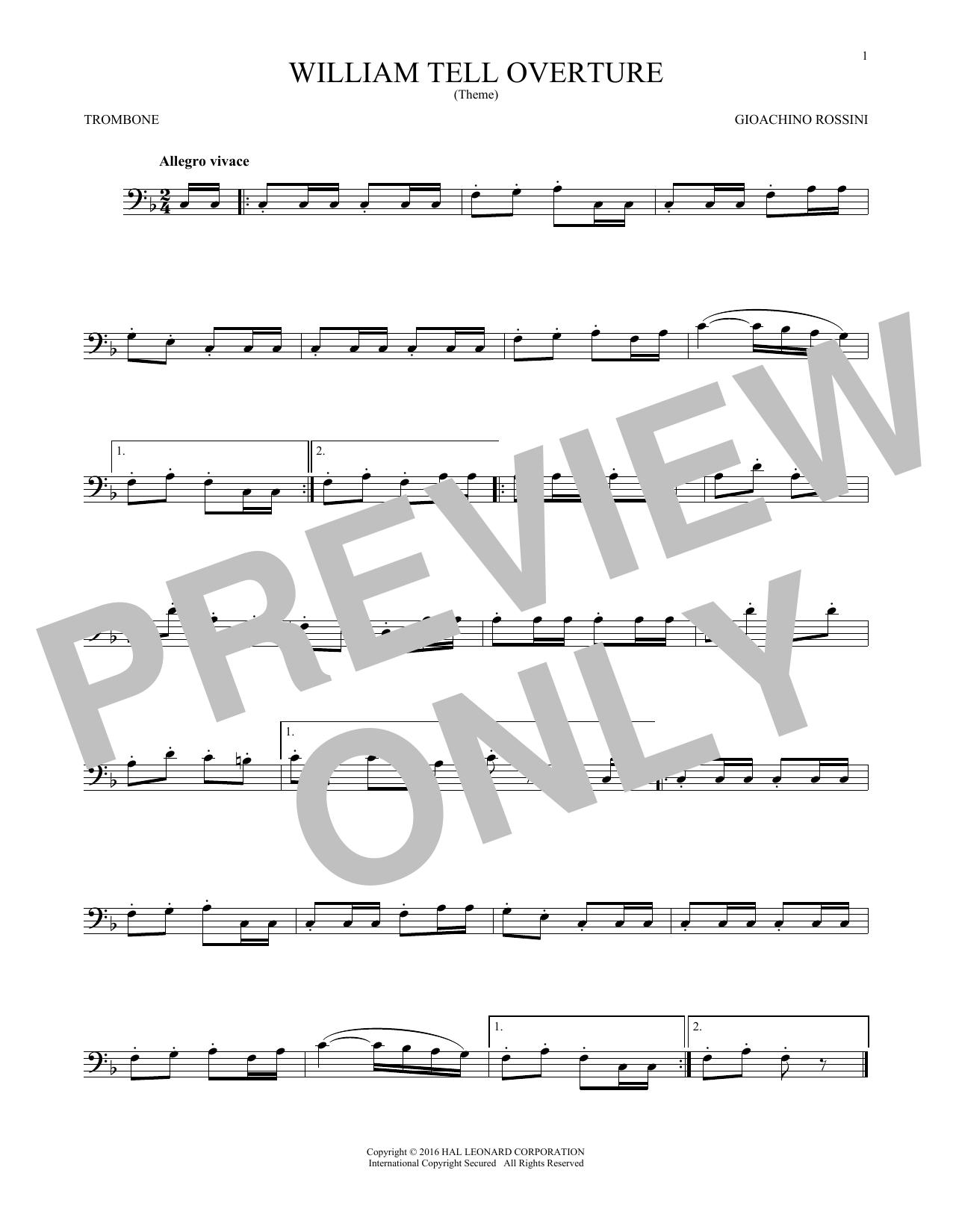 William Tell Overture (Trombone Solo)