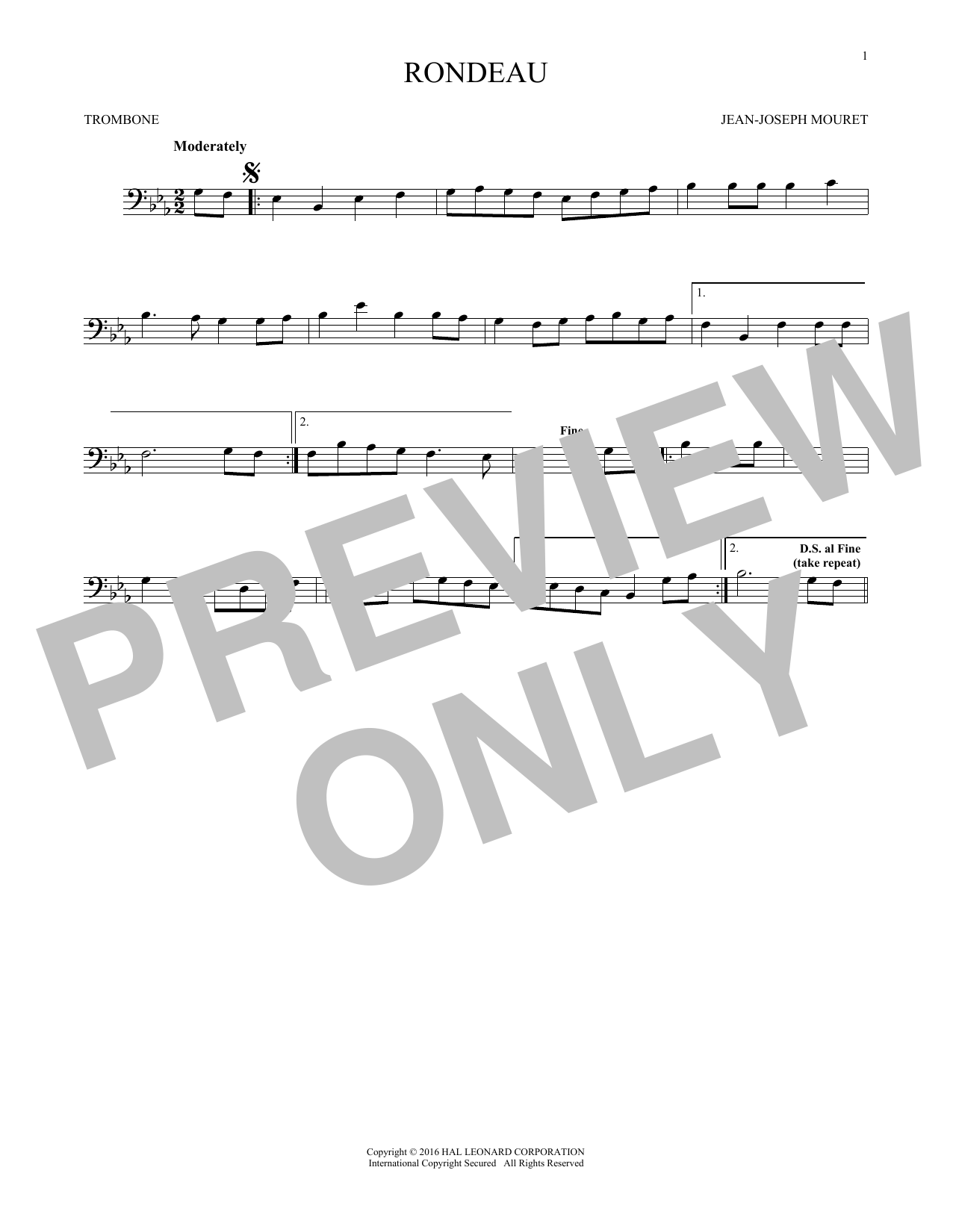 Fanfare Rondeau (Trombone Solo)