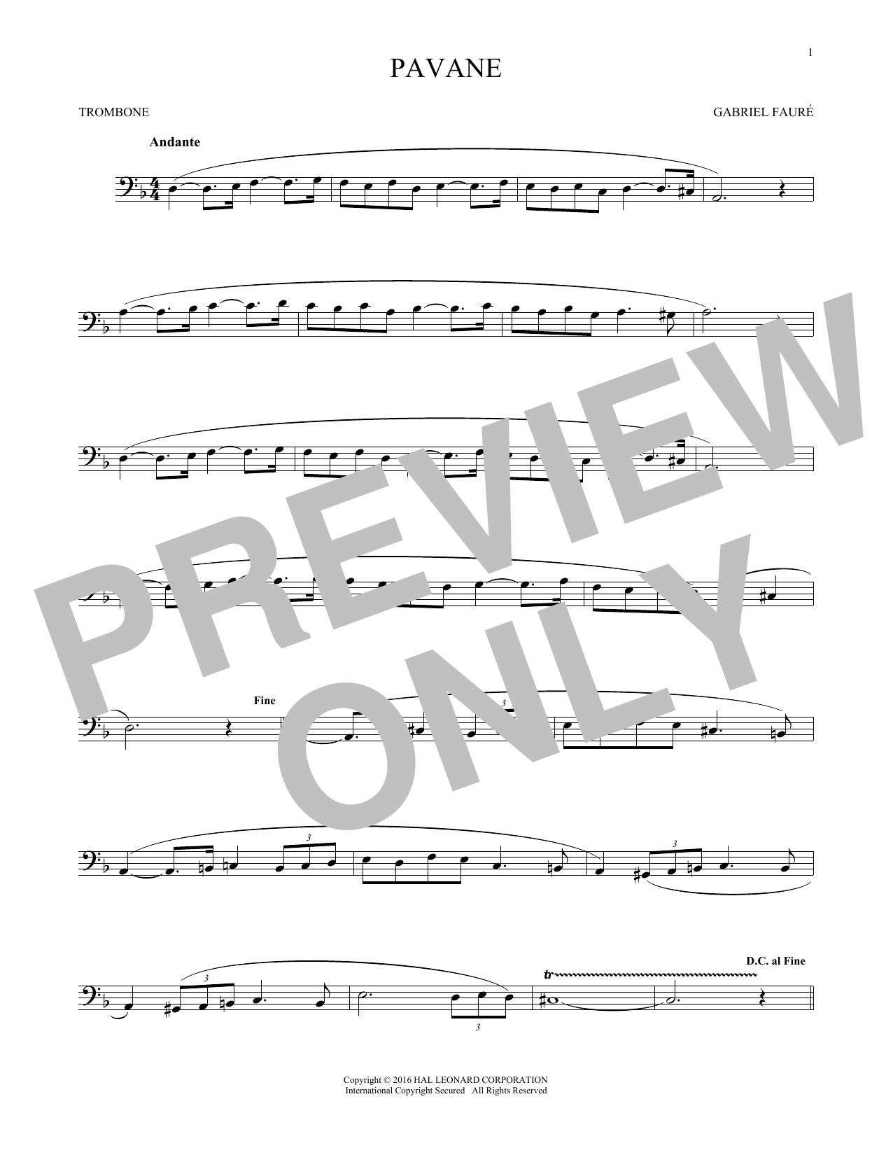Pavane (Trombone Solo)