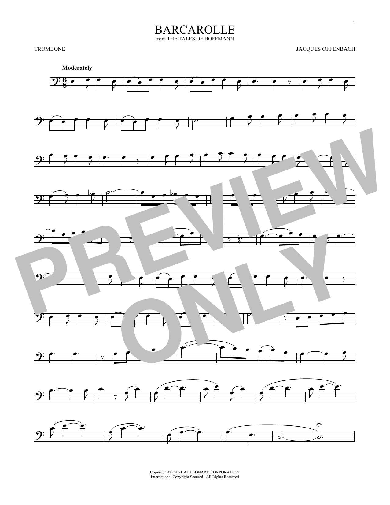 Barcarolle (Trombone Solo)