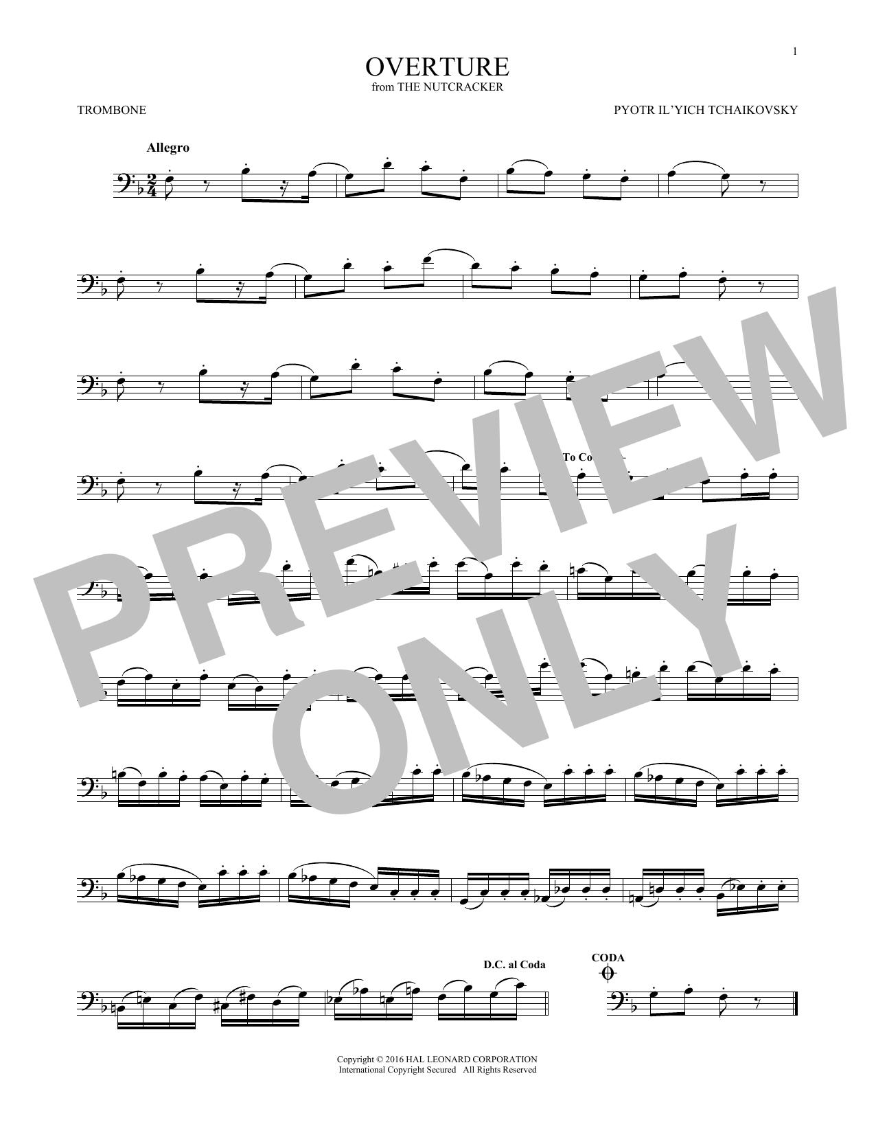 Overture (Trombone Solo)