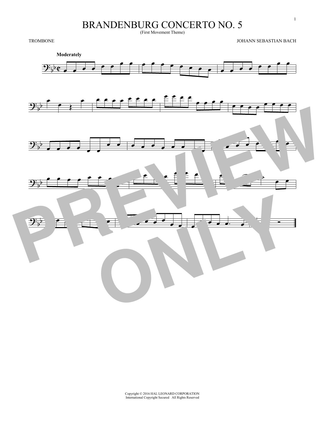Brandenburg Concerto No. 5 (Trombone Solo)