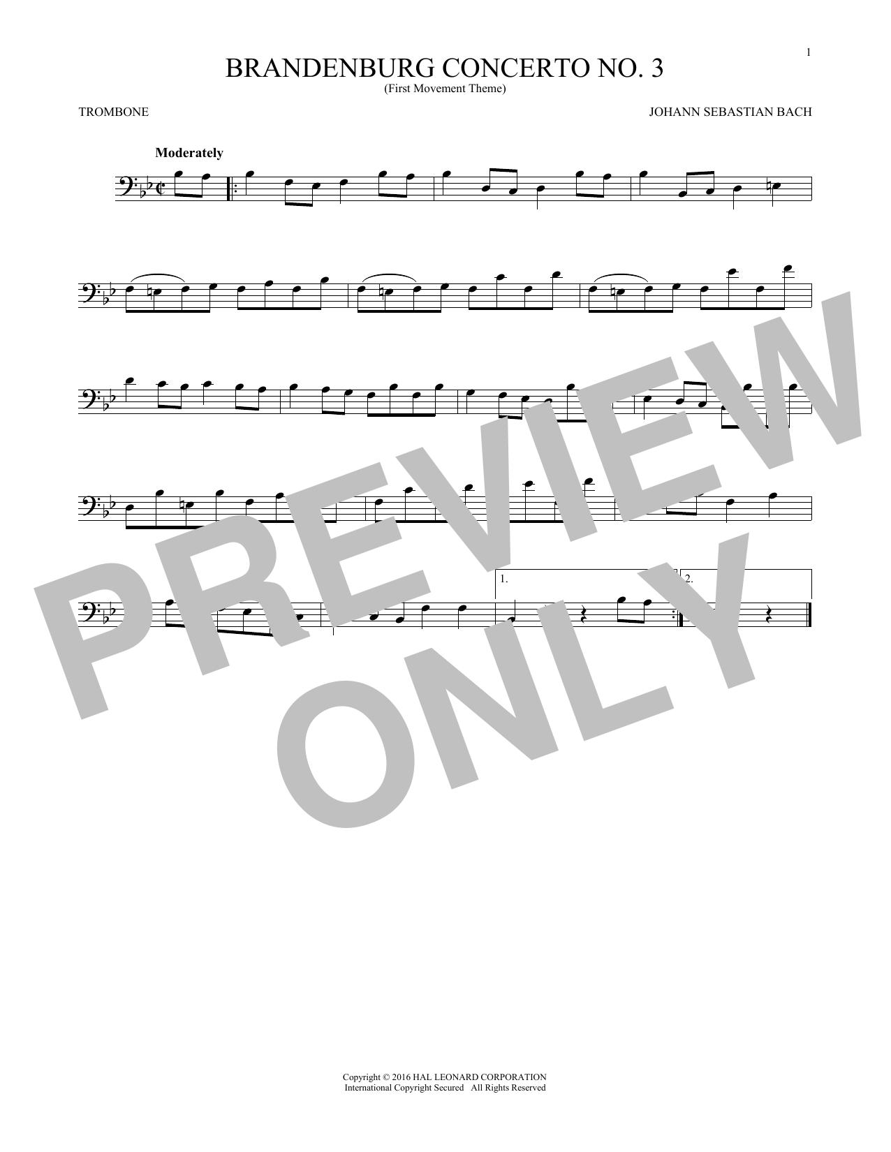 Brandenburg Concerto No. 3 (Trombone Solo)