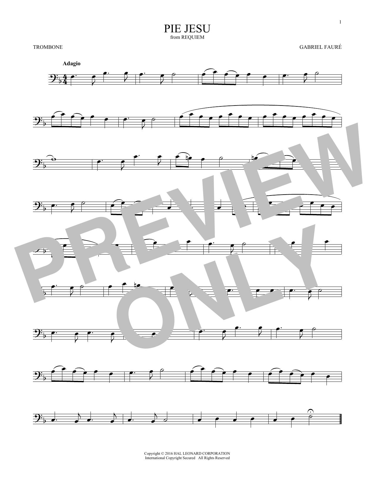 Pie Jesu (Trombone Solo)