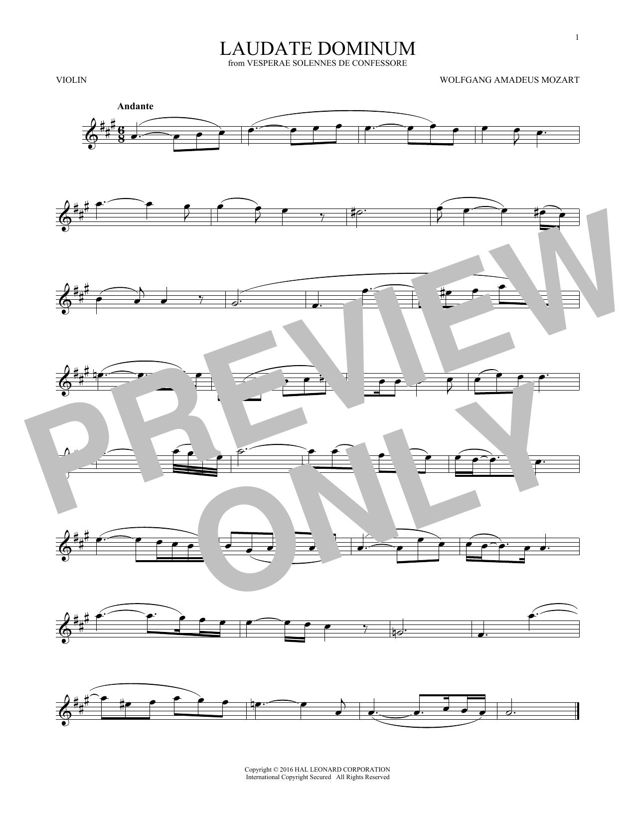 Laudate Dominum (Violin Solo)