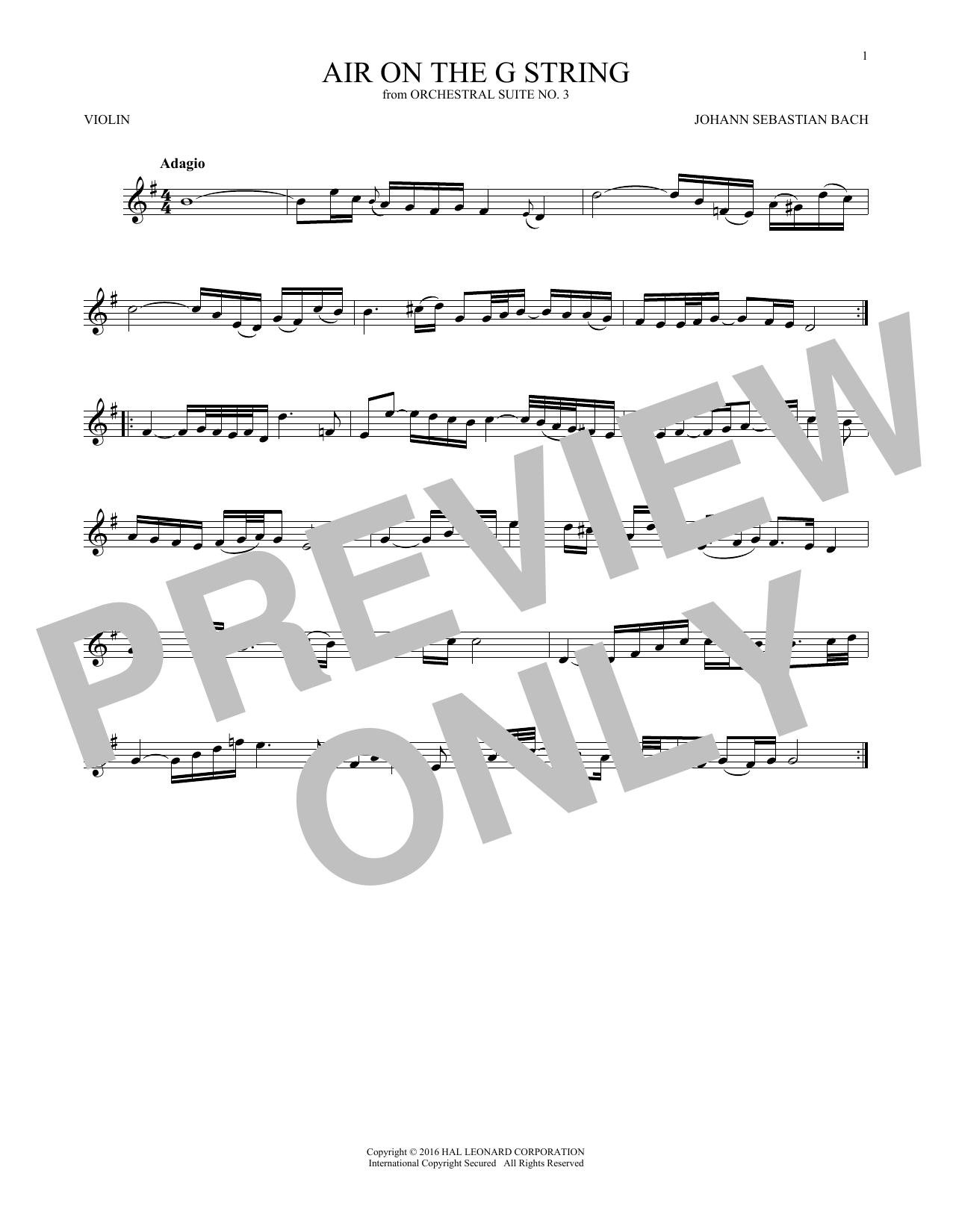 Air (Air On The G String) (Violin Solo)