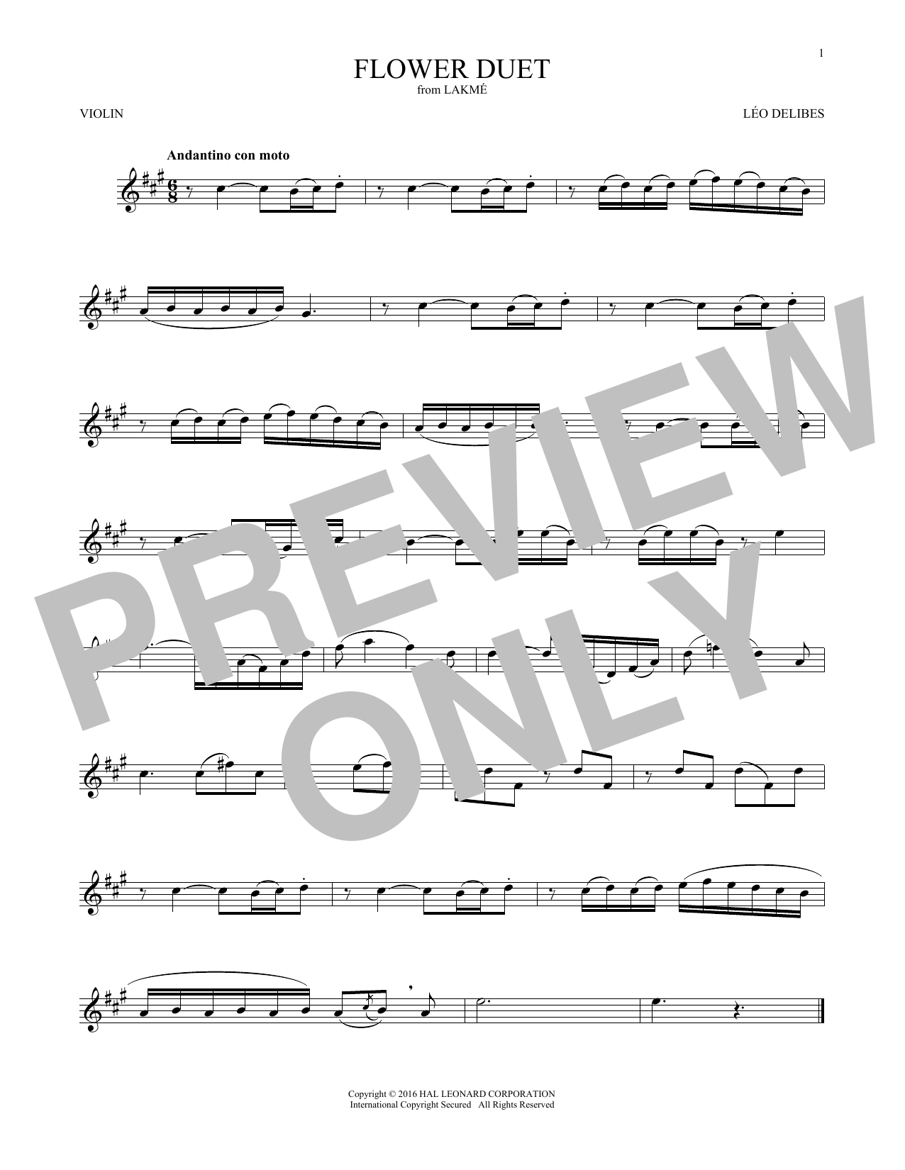 Flower Duet (Violin Solo)
