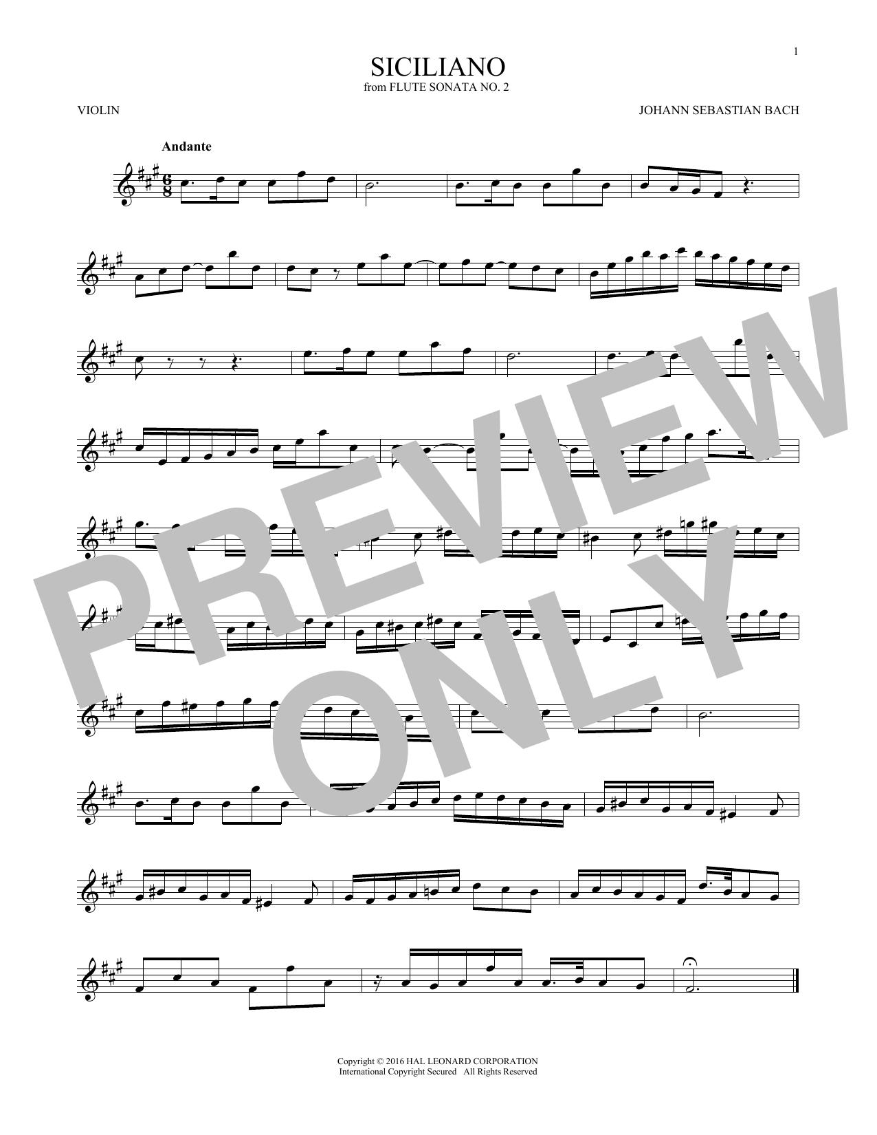 Siciliano (Violin Solo)