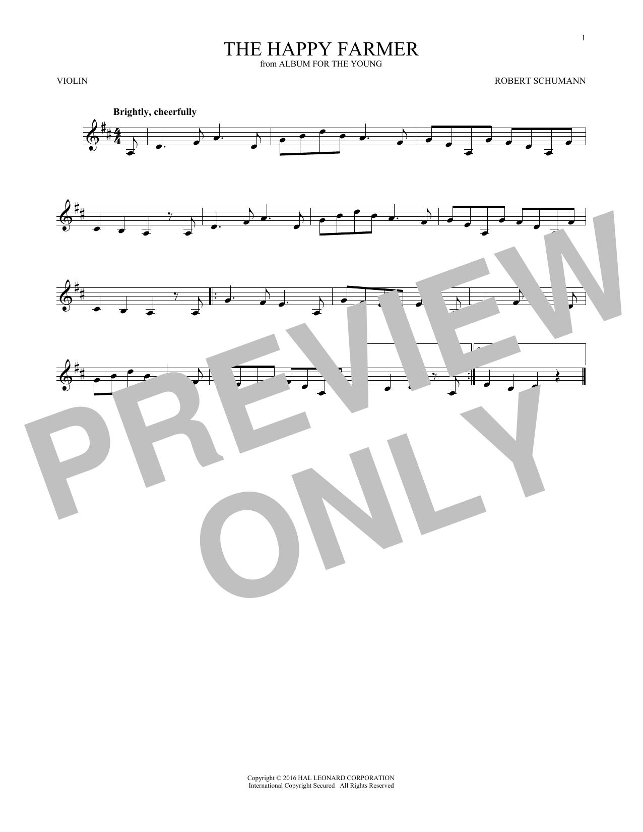 The Happy Farmer (Violin Solo)
