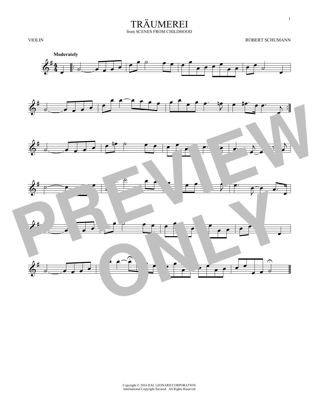 Traumerei (Violin Solo)