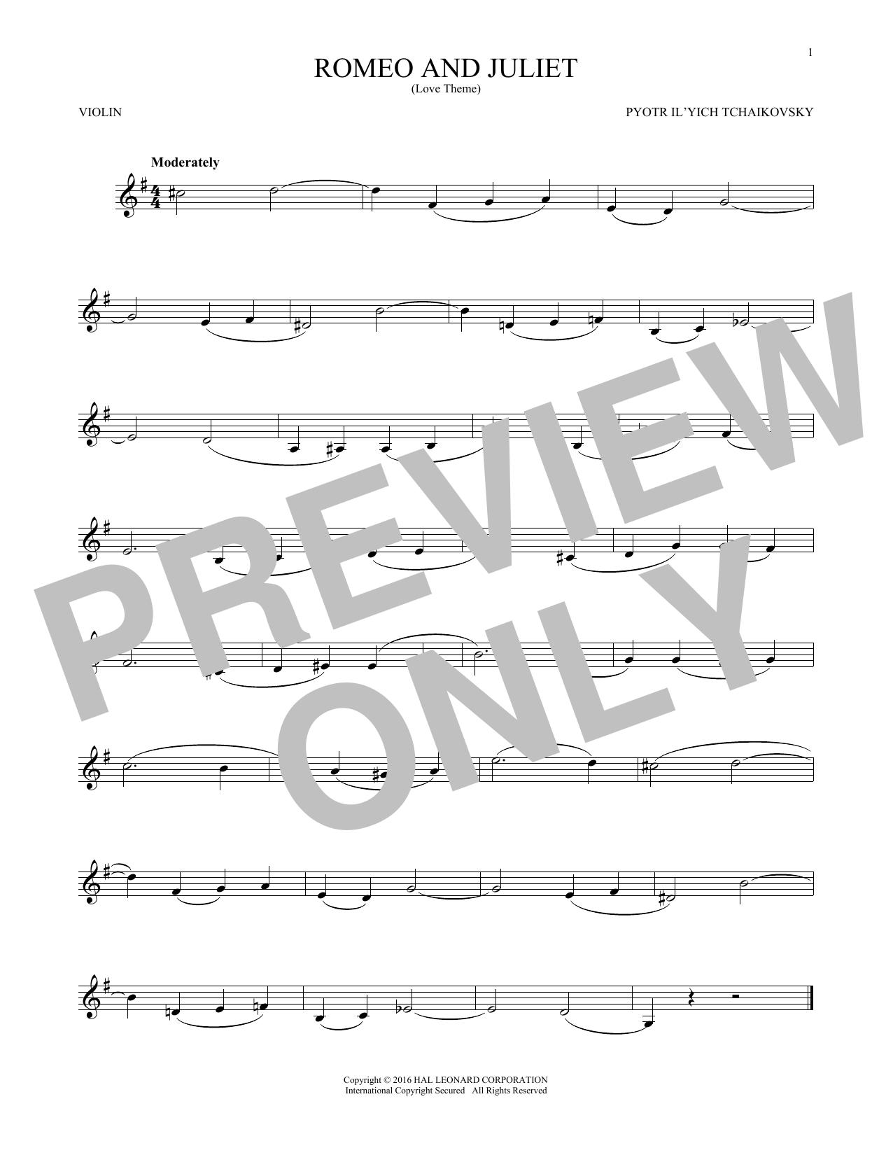 Romeo And Juliet (Love Theme) (Violin Solo)
