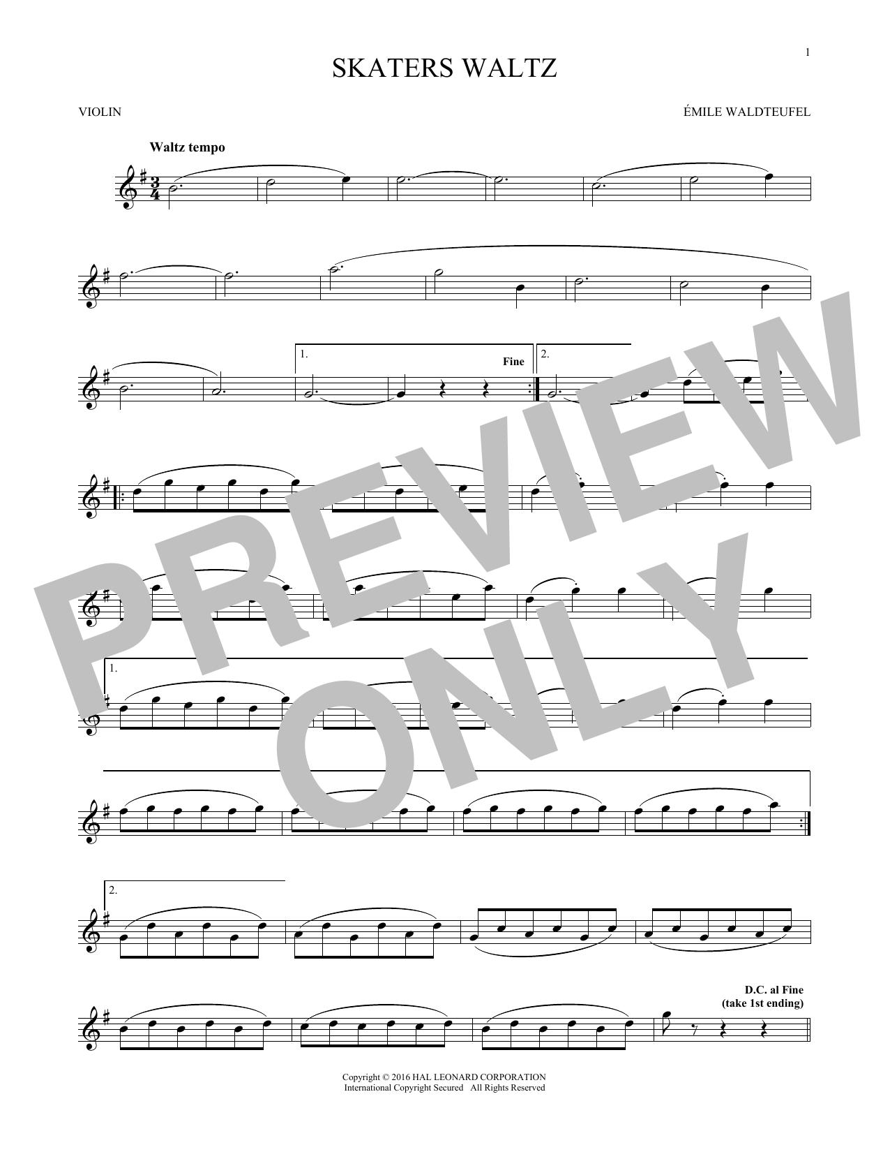 The Skaters (Waltz) (Violin Solo)
