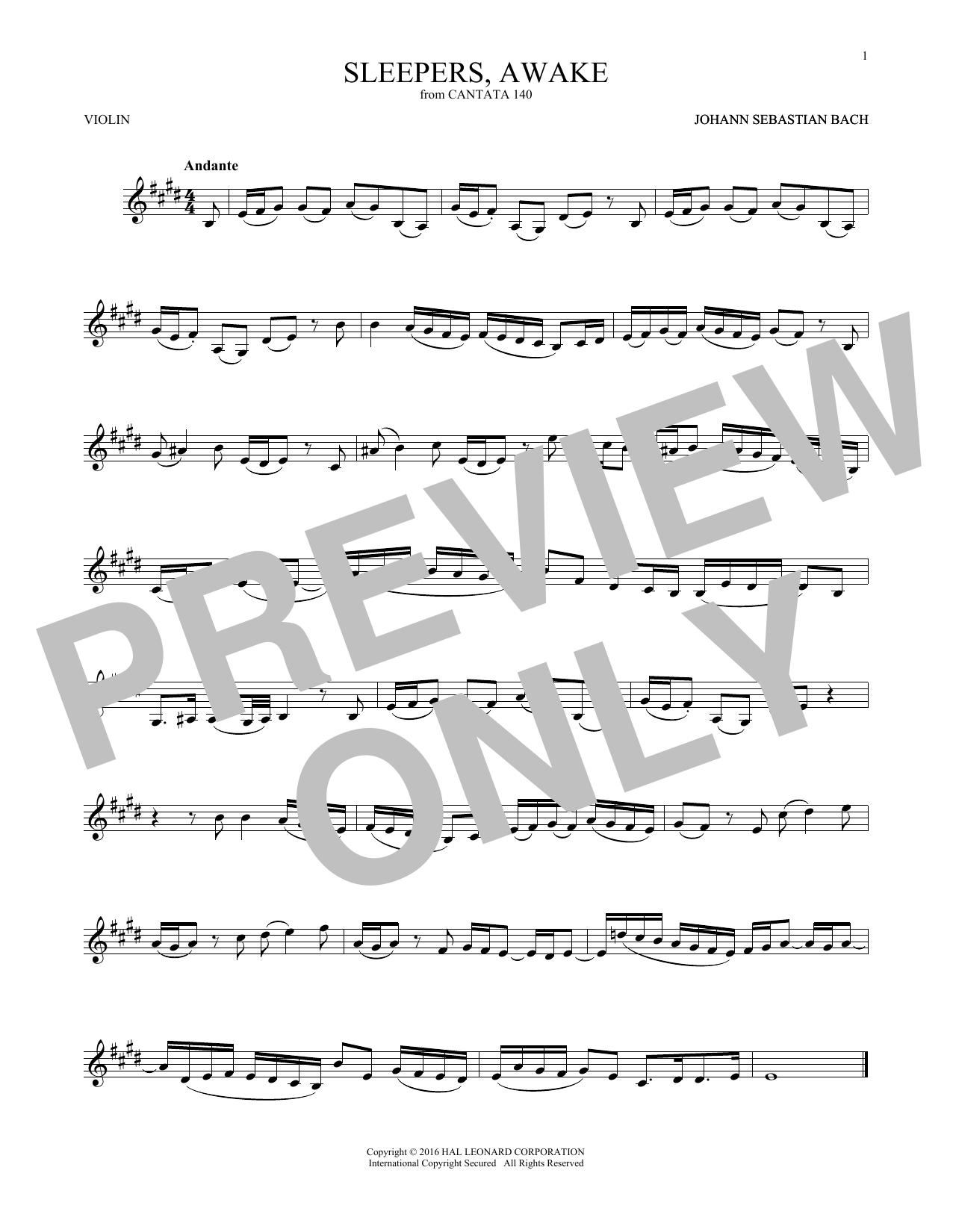 Sleepers, Awake (Wachet Auf) (Violin Solo)