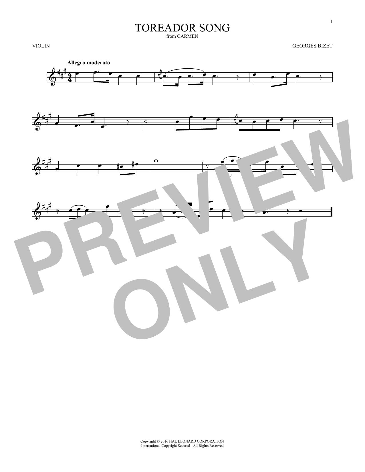 Toreador Song (Violin Solo)