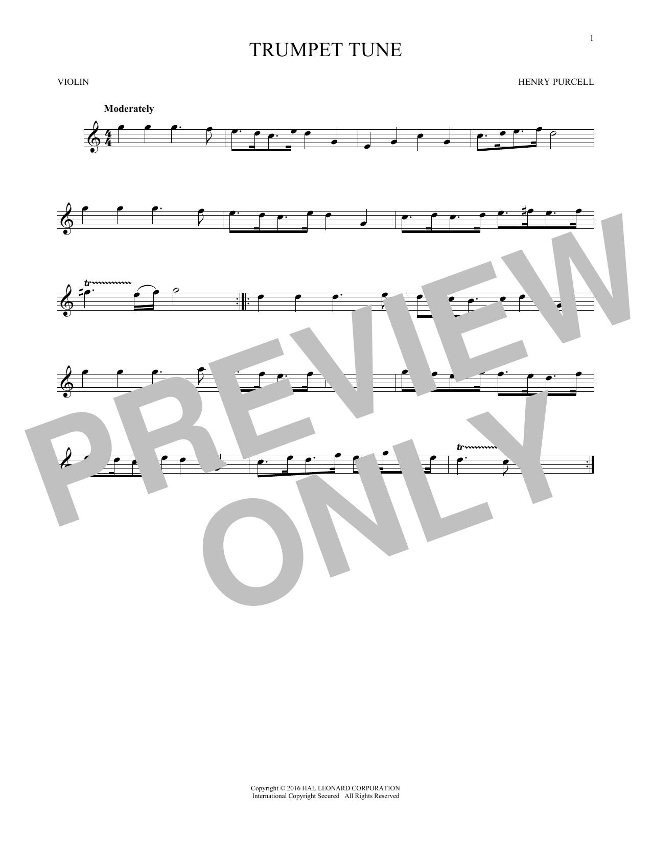Trumpet Tune (Violin Solo)
