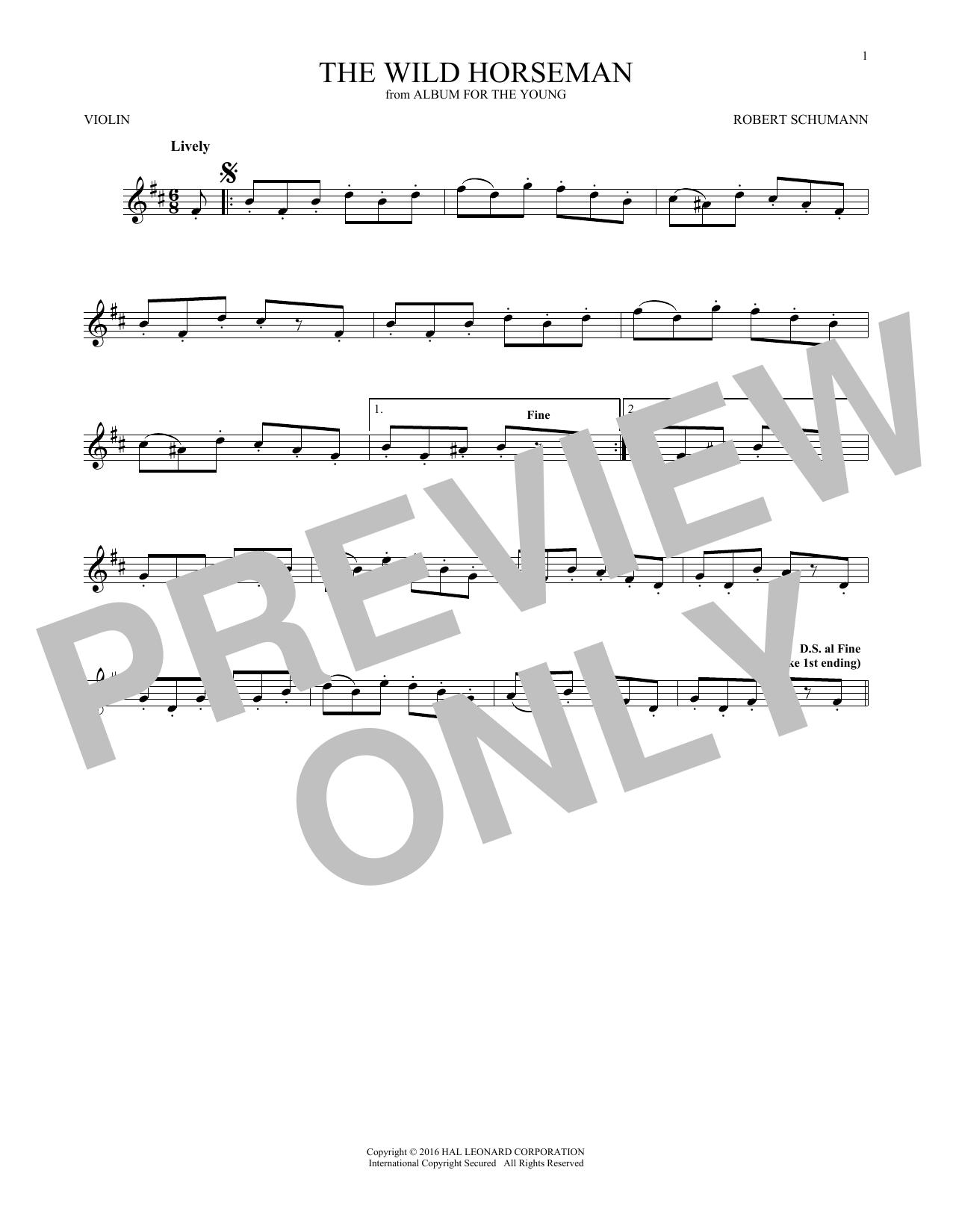 The Wild Horseman (Wilder Reiter), Op. 68, No. 8 (Violin Solo)