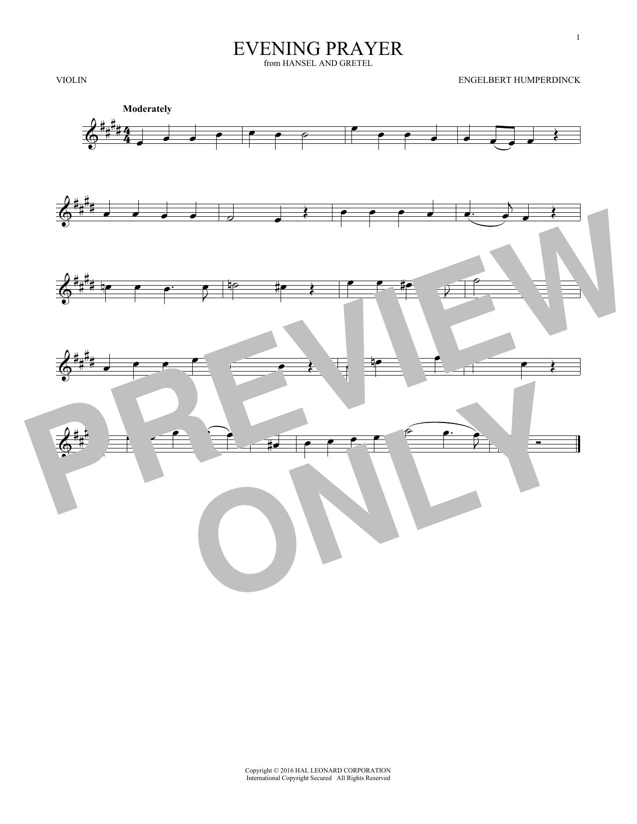 Evening Prayer (Violin Solo)