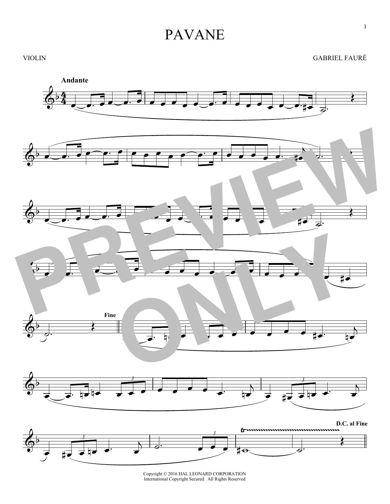 Pavane (Violin Solo)