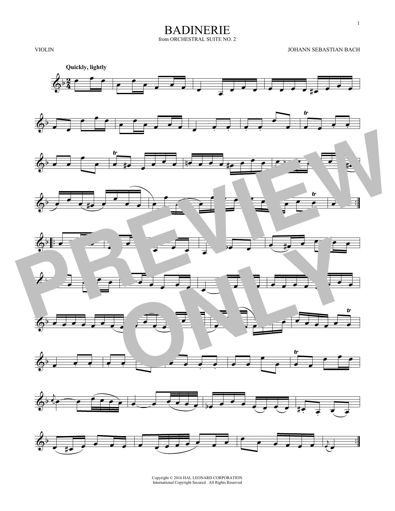 Badinerie (Suite No. 2) (Violin Solo)