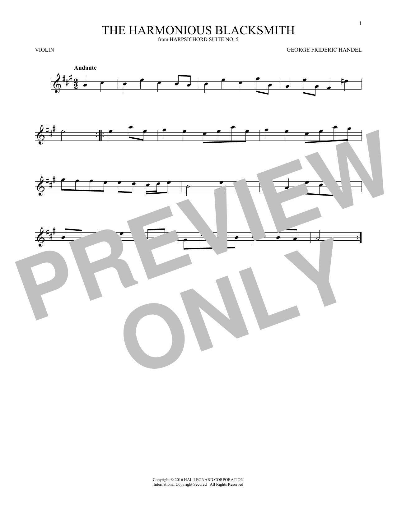 Harmonious Blacksmith (Violin Solo)