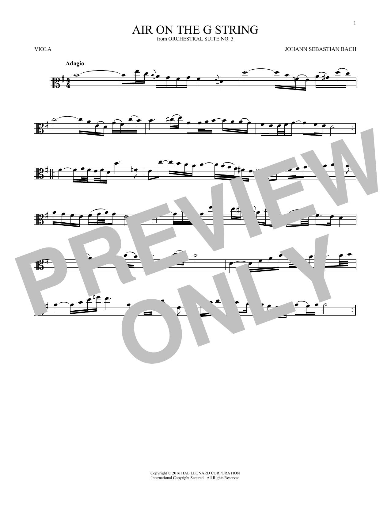 Air (Air On The G String) (Viola Solo)