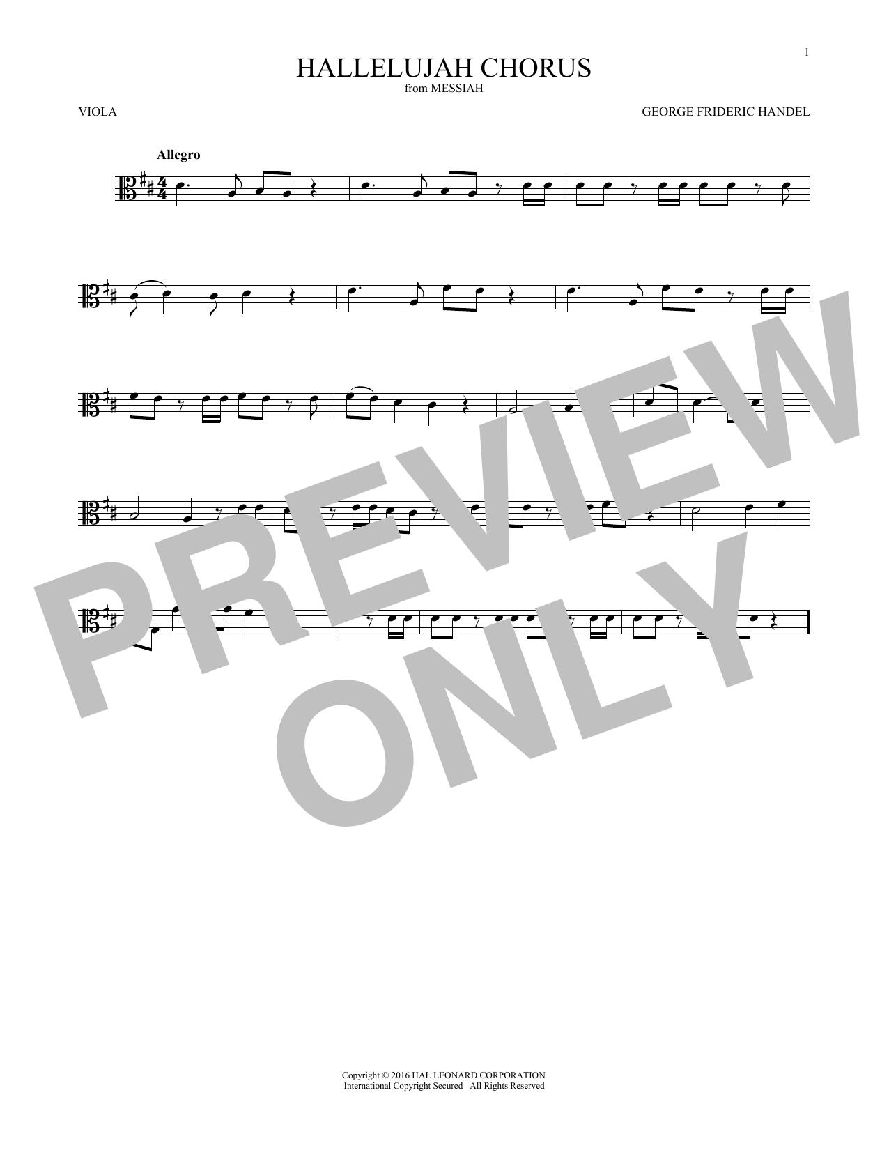 Hallelujah Chorus (Viola Solo)