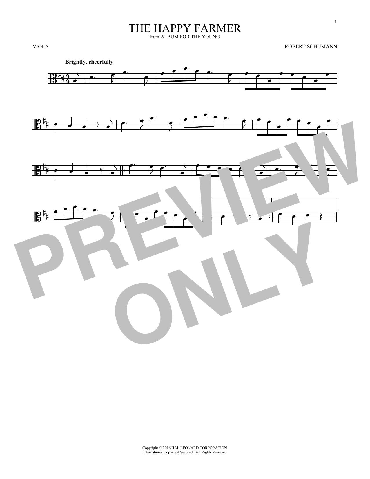 The Happy Farmer (Viola Solo)