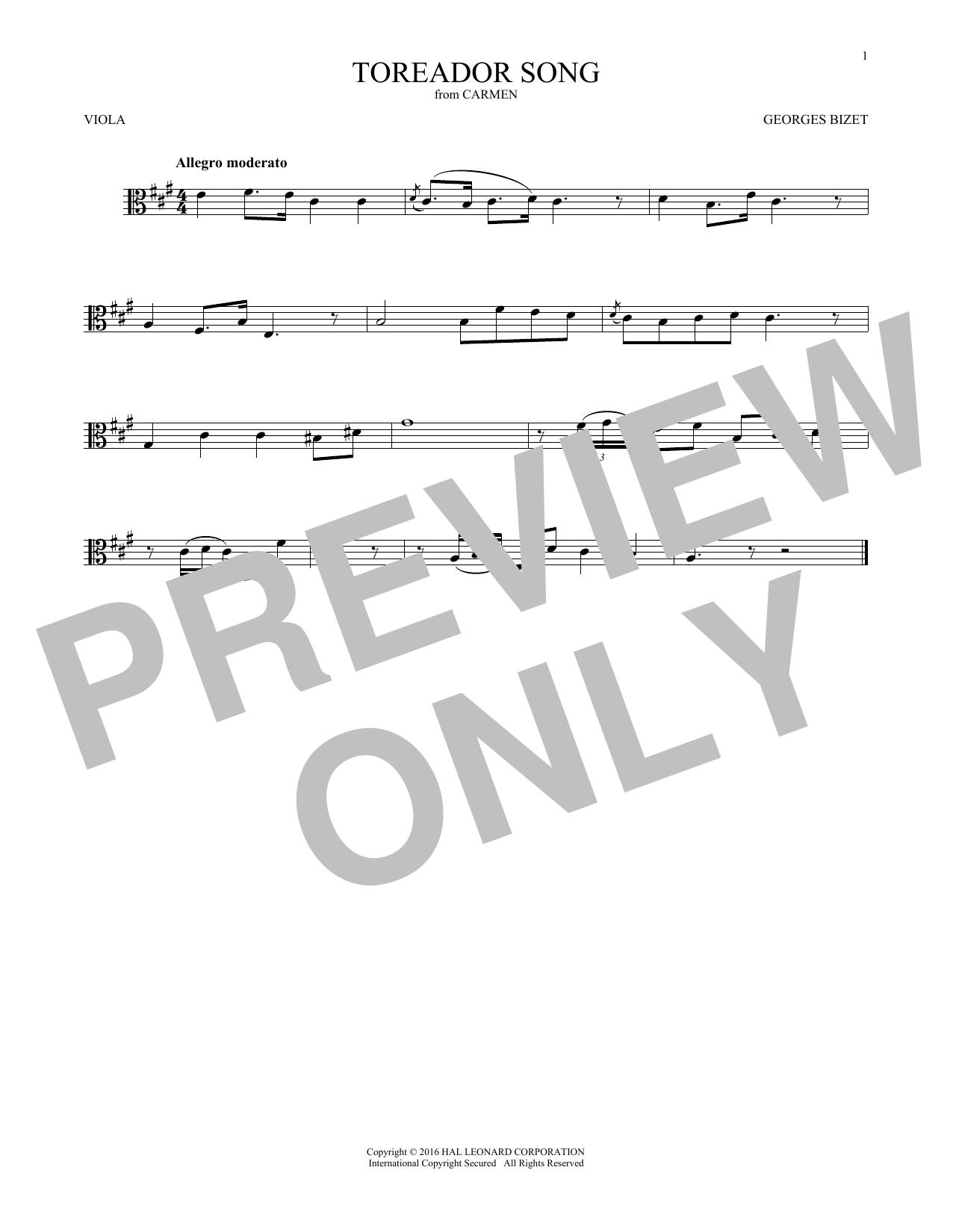 Toreador Song (Viola Solo)