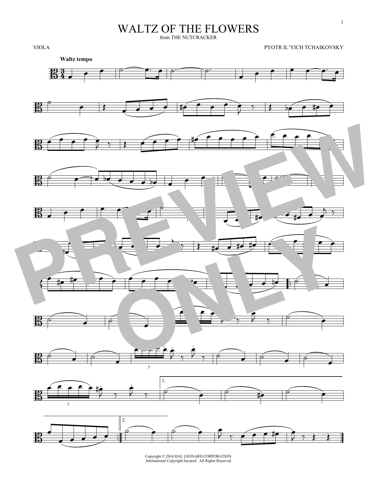 Waltz Of The Flowers, Op. 71a (Viola Solo)