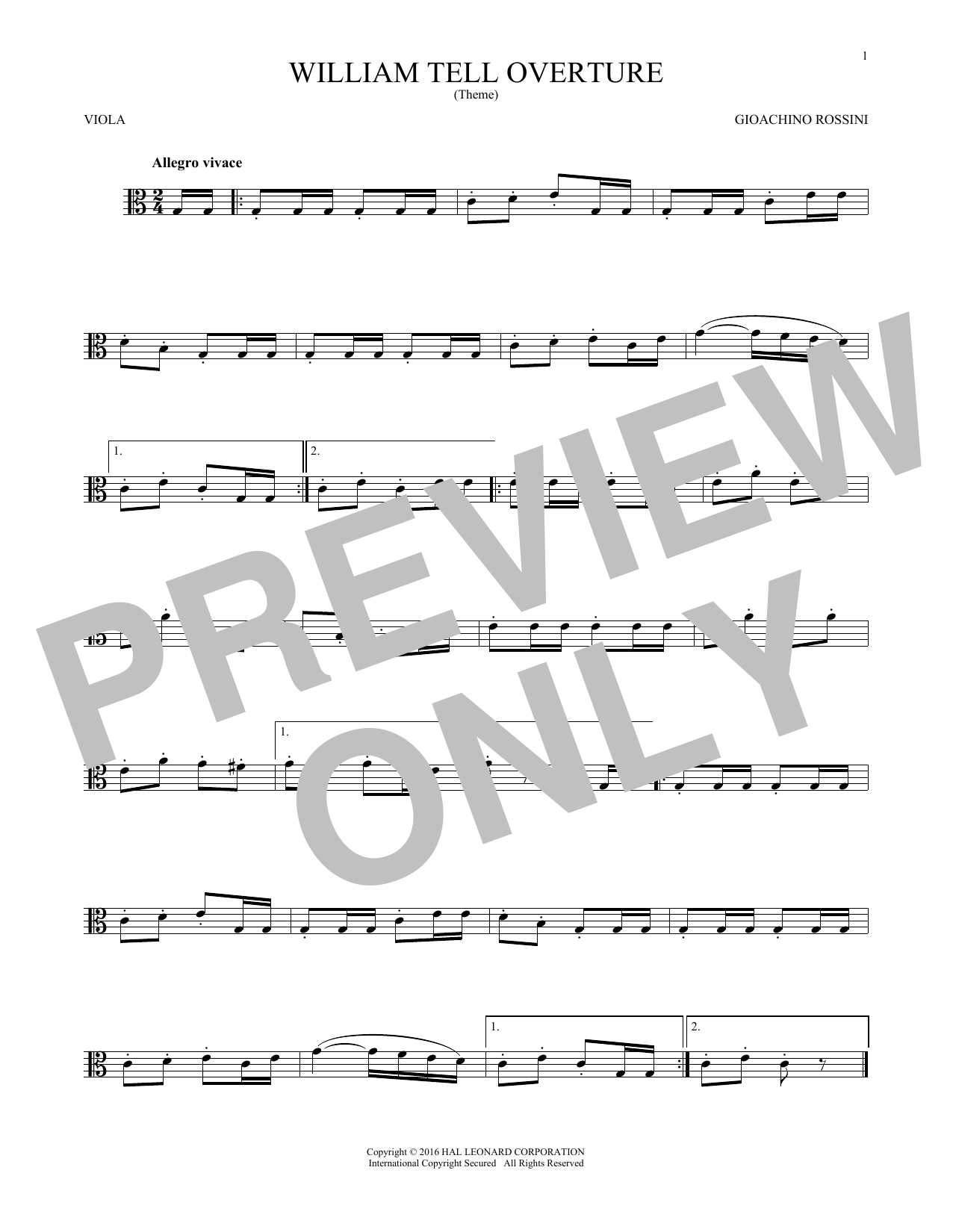 William Tell Overture (Viola Solo)